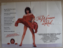 Woman in Red, Original UK Quad Poster, Kelly LeBrock, Gene Wilder, '84